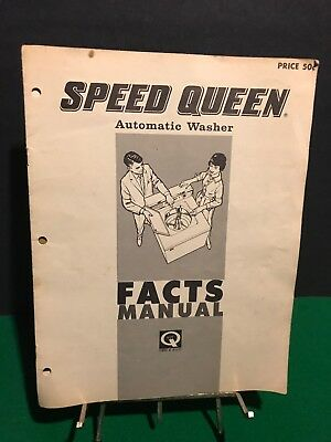 Vintage Speed Queen Automatic Washer Facts Manual