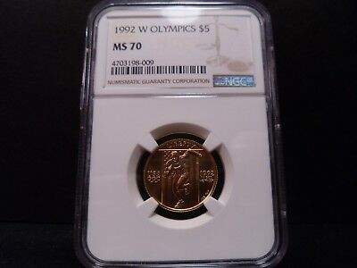 1992-W MS70 Olympics $5 Gold Commemorative NGC Certified Perfect