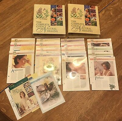 The Complete Guide to Natural Healing 2 Binders Mostly Unopened Packets Of Cards
