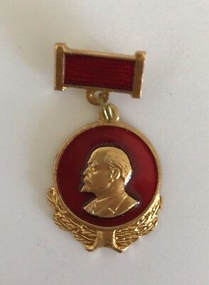 A Rare Vintage Lenin Communist Party Komsomol VLKSM Congress Pin Badge