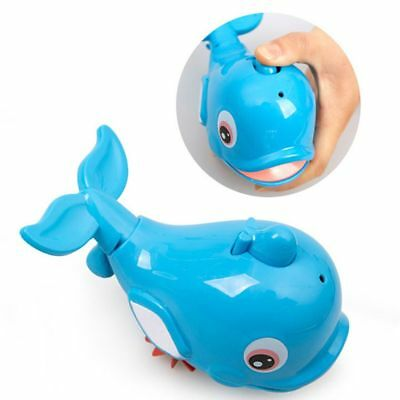 Blue Plastic Baby Kids Bath Toy Kids Gifts Dolphin Shaped Water Spray Toy