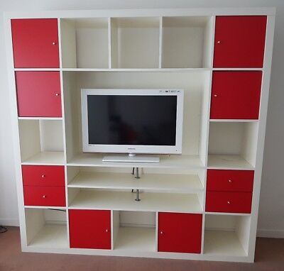 meuble tv 40 pouces expedit kallax ikea 16 cases trs bon tat