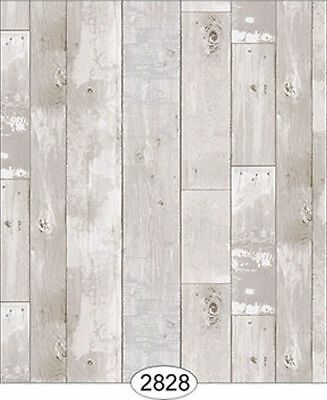 Dollhouse 1:12 Scale Wallpaper - Reclaimed Wood Floor - Grey