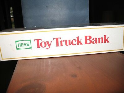 Vintage 1985 First Hess Truck Toy Bank  NEW