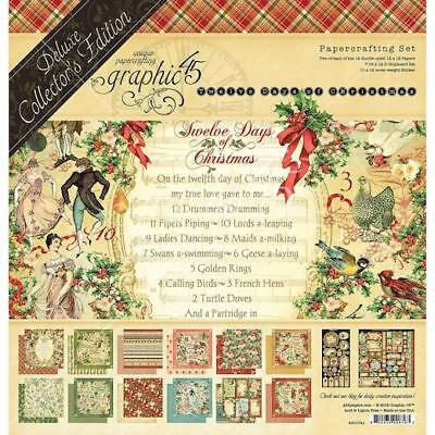 "Graphic 45 12""x12"" Deluxe Collector's Edition Pack - 12 Days Of Christmas"