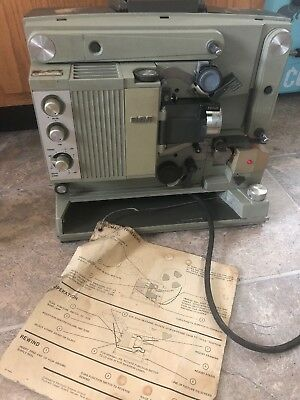 Vintage RCA 1600 16mm Movie / Film Projector POWERS ON