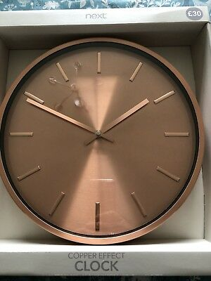 Next Copper Wall / Kitchen Clock - New With Tags