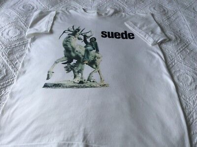 Suede *original* So Young (Single 1993) T-Shirt Size Large Excellent Condition