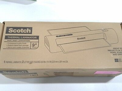 Scotch Thermal Laminator 2 Roller System Fast Warmup Quick Laminating Speed F1