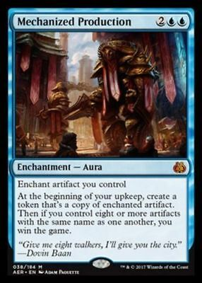 1x MECHANIZED PRODUCTION - Aura - Aether Revolt - MTG - NM - Magic the Gathering