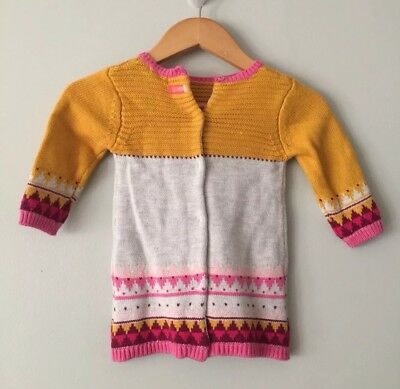 CATIMINI NWT Baby Girl Multicolored Cotton Blend Cardigan Sweater, Size 6 Months