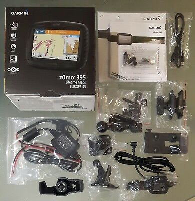 Garmin Zumo 340/345/350/390/395 complete bike+car mounting kits & power supplies