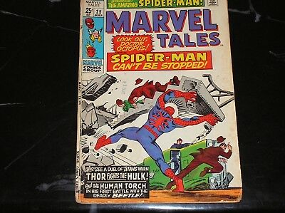 Marvel Tales #25 1970 Spider-Man Human Torch Thor Reprints Fair Condition