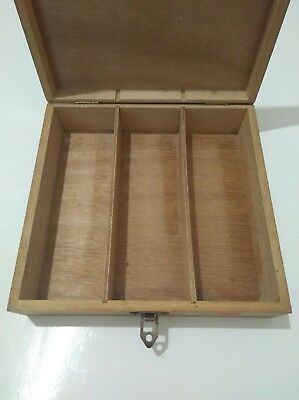 Watchmakers Wooden Box Empty Useful Storage (Original used to store crystals)