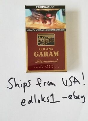 Gudang Garam International Kretek collectible Cigarettes SHIPS FROM USA