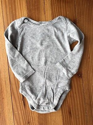 Hanna Andersson Grey Bodysuit Long-sleeve Size 70 (6-12mo) GREAT CONDITION!