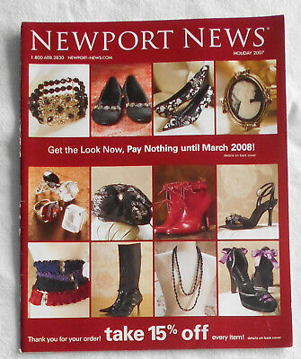 NEWPORT NEWS Catalog/ Pre-Holiday Sale/ 2007/ Cover 2/ Clean Back Cover