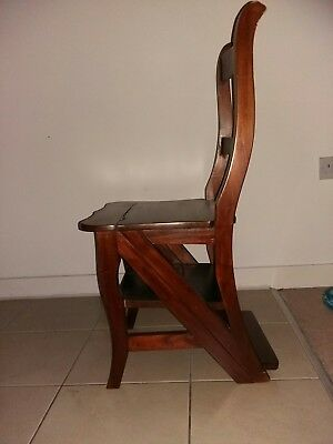 Metamorphic Occasional Desk Chair Steps Stepladder in the Antique Style