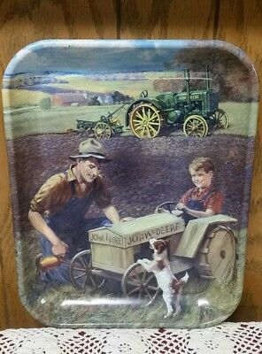 John Deere Tin Serving Tray Big Wheels Little Wheels 2001