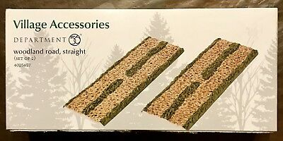 Department 56 Woodland Road, Straight Village Accessories #4025457 - NEW