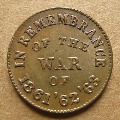 Civil War Token Fuld 24/246a Nice UNC - In Remembrance of the War of '61 '62 '63
