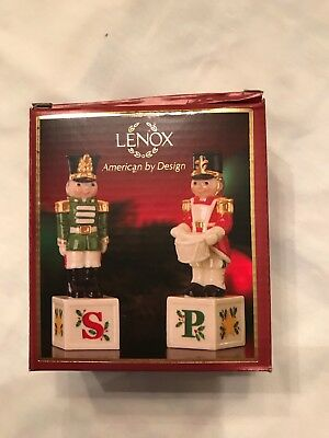 Lenox Salt and Pepper shakers TOY SOLDIERS