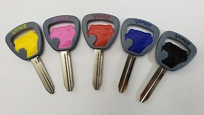 1994-2002 Dodge Viper Factory Key Blank - Red Blue Black Yellow Pink