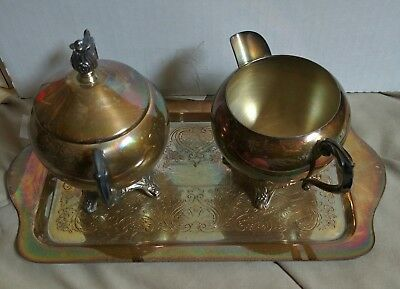 Vintage FB Rogers Silver Co. 1883 Silverplate Lidded Sugar and Creamer with Tray