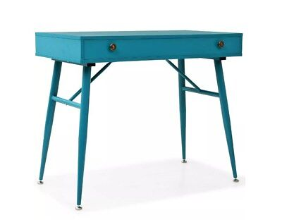 Retro Writing Desk Vintage Industrial PC Office Computer Table Metal Furniture