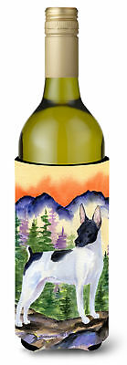 Rat Terrier Wine Bottle Beverage Insulator Beverage Insulator Hugger