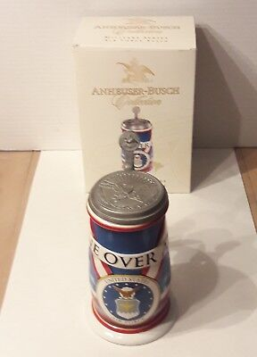 Anheuser-Busch Collection Military Series Air Force Stein w/Box