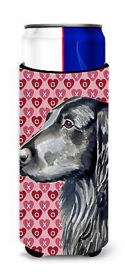 Flat Coated Retriever Hearts Love and Valentine's Day Portrait Ultra Beverage In