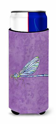 Dragonfly on Purple Ultra Beverage Insulators for slim cans