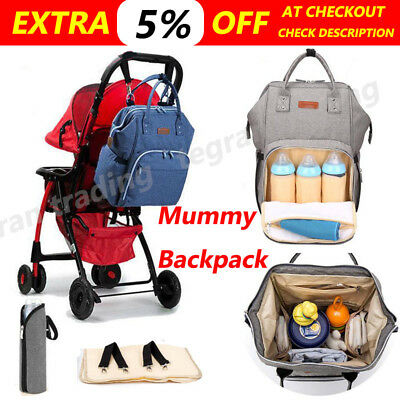 2019 Multifunctional Baby Diaper Backpack Changing Bag Nappy Mummy Changing Bag