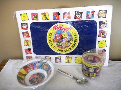 Kellogg'S 4 Piece Breakfast Set-The Best To You Each Morning - Cup Bowl Spoon +