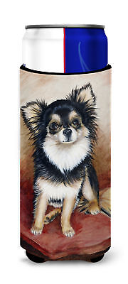 Chihuahua Long Hair Ultra Beverage Insulators for slim cans