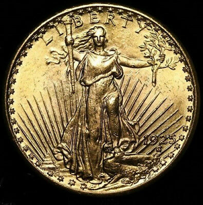1925 $20 Dollar St. Gaudens Double Eagle Gold Coin