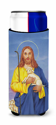 Jesus The Good Shepherd holding a lamb Ultra Beverage Insulators for slim cans