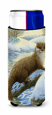 Otter on the bank Ultra Beverage Insulators for slim cans