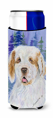 Clumber Spaniel Ultra Beverage Insulators for slim cans