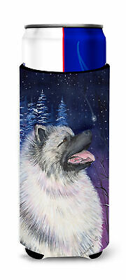 Starry Night Keeshond Ultra Beverage Insulators for slim cans