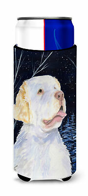 Starry Night Clumber Spaniel Ultra Beverage Insulators for slim cans