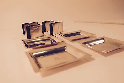 Vintage Tiffany Sterling Silver Set of 4 Ashtrays and Match Holders