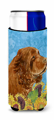Sussex Spaniel in Summer Flowers Ultra Beverage Insulators for slim cans