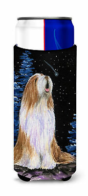 Starry Night Bearded Collie Ultra Beverage Insulators for slim cans