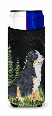 Starry Night Bernese Mountain Dog Ultra Beverage Insulators for slim cans