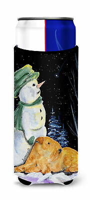 Snowman with Lakeland Terrier Ultra Beverage Insulators for slim cans