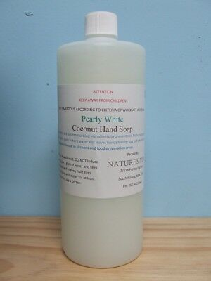 """""""Nature's Mix"""" Pearly White Coconut Hand Soap** Commercial Cleaning**1L or 5L"""