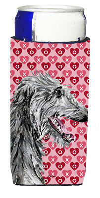 Scottish Deerhound Hearts and Love Ultra Beverage Insulators for slim cans