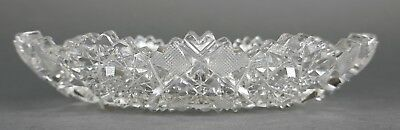Fine Antique AMERICAN BRILLIANT Cut Crystal ABP Royal Oval Relish Dish 19th Cent